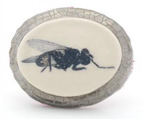 remon jephcott cameo fly brooch