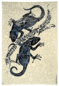 """IM 57 - Two Lizards """"The mind is not a vessel to be filled but a fire to be kindled"""""""