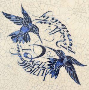 "IM-16 - Hummingbirds ""I dwell in possibility."""