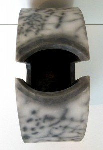 christina peters raku slotted vase