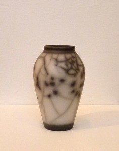 Christina peters raku vase