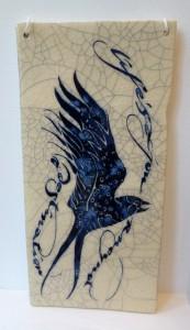 iris milward bird tile