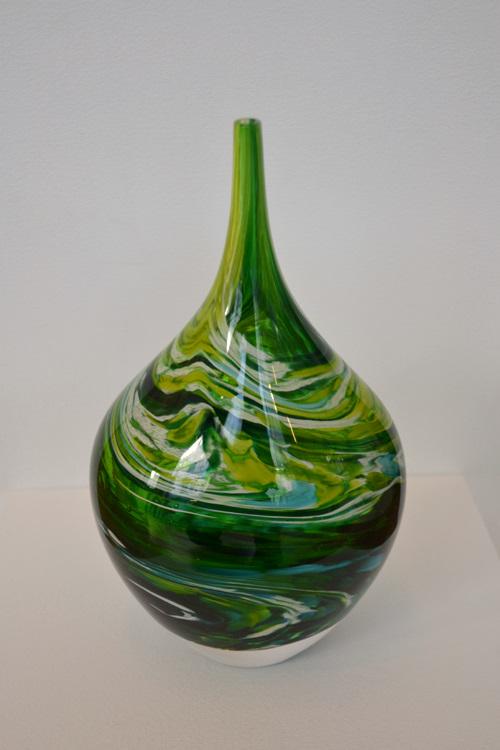 Richard Glass Glass Art Vase Sea