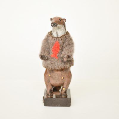 Gwen Vaughan - Otter with Cashmere Jumper
