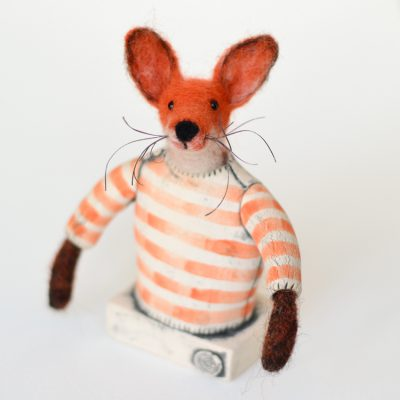 Fox in Ceramic Jumper by Tracey Benton and Gwen Vaughan