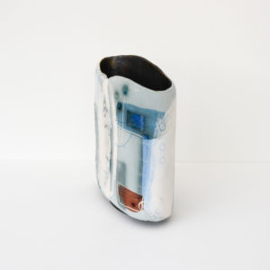 Susan Luker - Medium Stoneware Vessel - The Red Dot