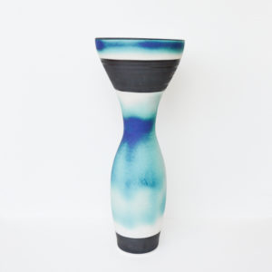 Hugh West - Tall Hourglass Porcelain Vase