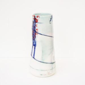Helen Harrison - Tall Floral Ceramic Vase