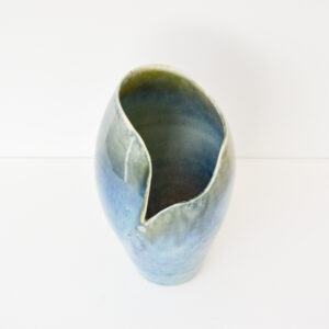 Karen Carlyon Tall Porcelain Penguin Vase