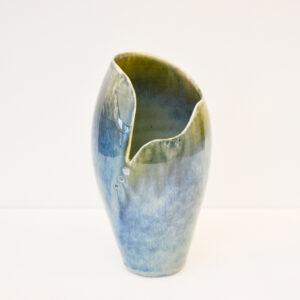 Karen Carlyon - Tall Porcelain Penguin Vase