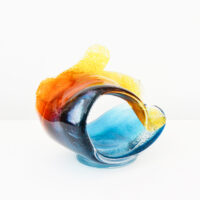 Richard Glass – Wave Sculpture, multi-coloured, medium