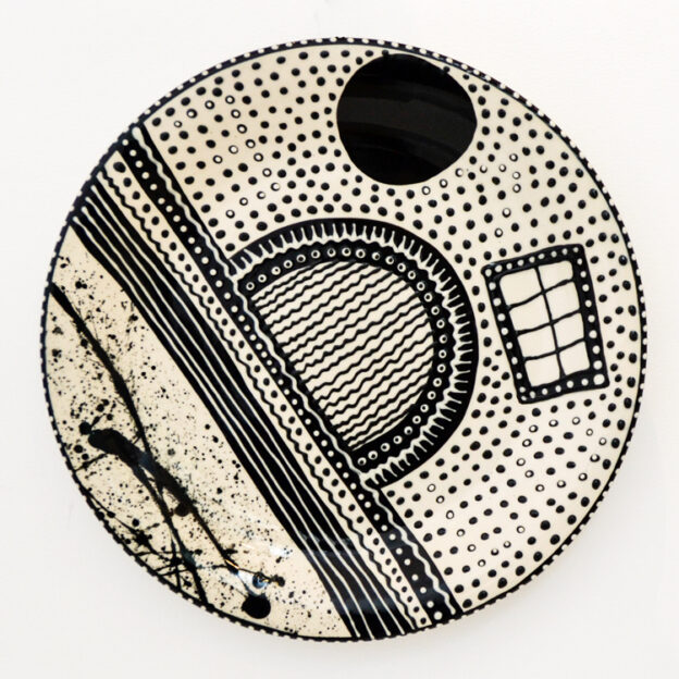 Lincoln Kirby-Bell - Large Black & White Wall Plate
