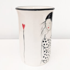 Lucie Sivicka - Wild Swimming Illustrated Vase