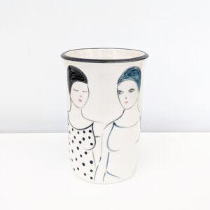 Lucie Sivicka - Wild Swimming Illustrated Vase