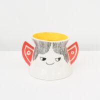 Scotty Gillespie - Illustrated Ceramic Face Vase