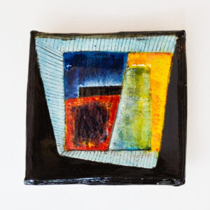 John Pollex - Small Square Plate, abstract