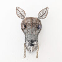 Kate Packer - Wire Water Deer Brooch
