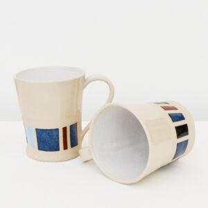 Two Stoneware Mugs
