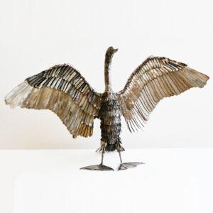 Mike Tucker - Stainless Steel Cormorant