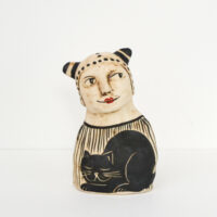 Lucie Sivicka - Cat Person Sculpture